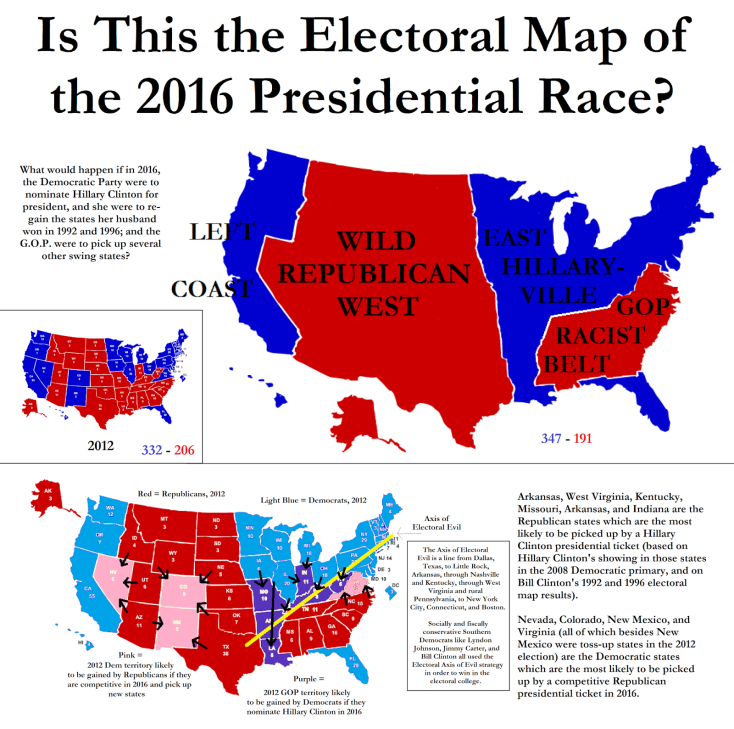 Image result for electoral college map 2016, predictions